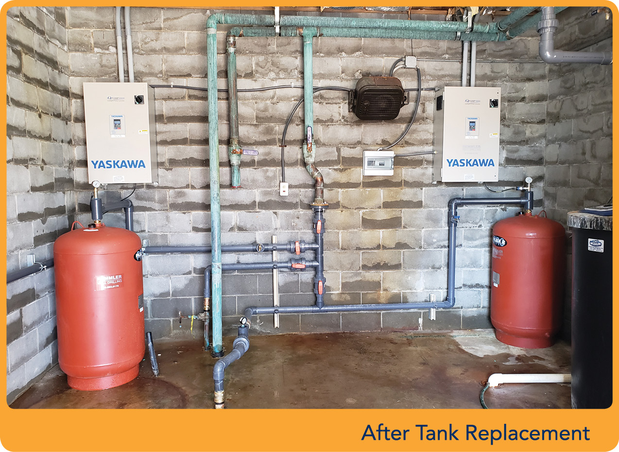 new water and wastewater systems at travel center